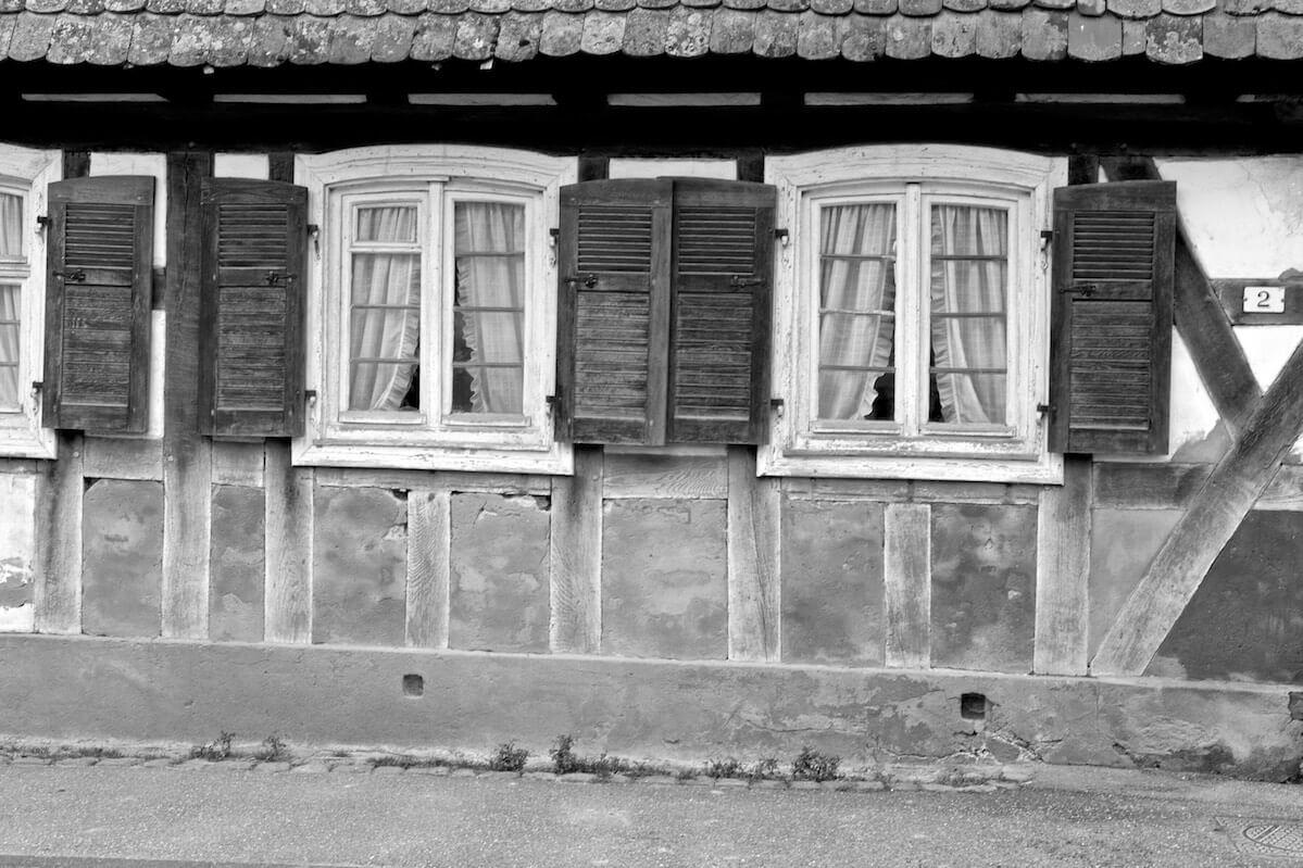 Altes Fachwerkhaus in Hunspach