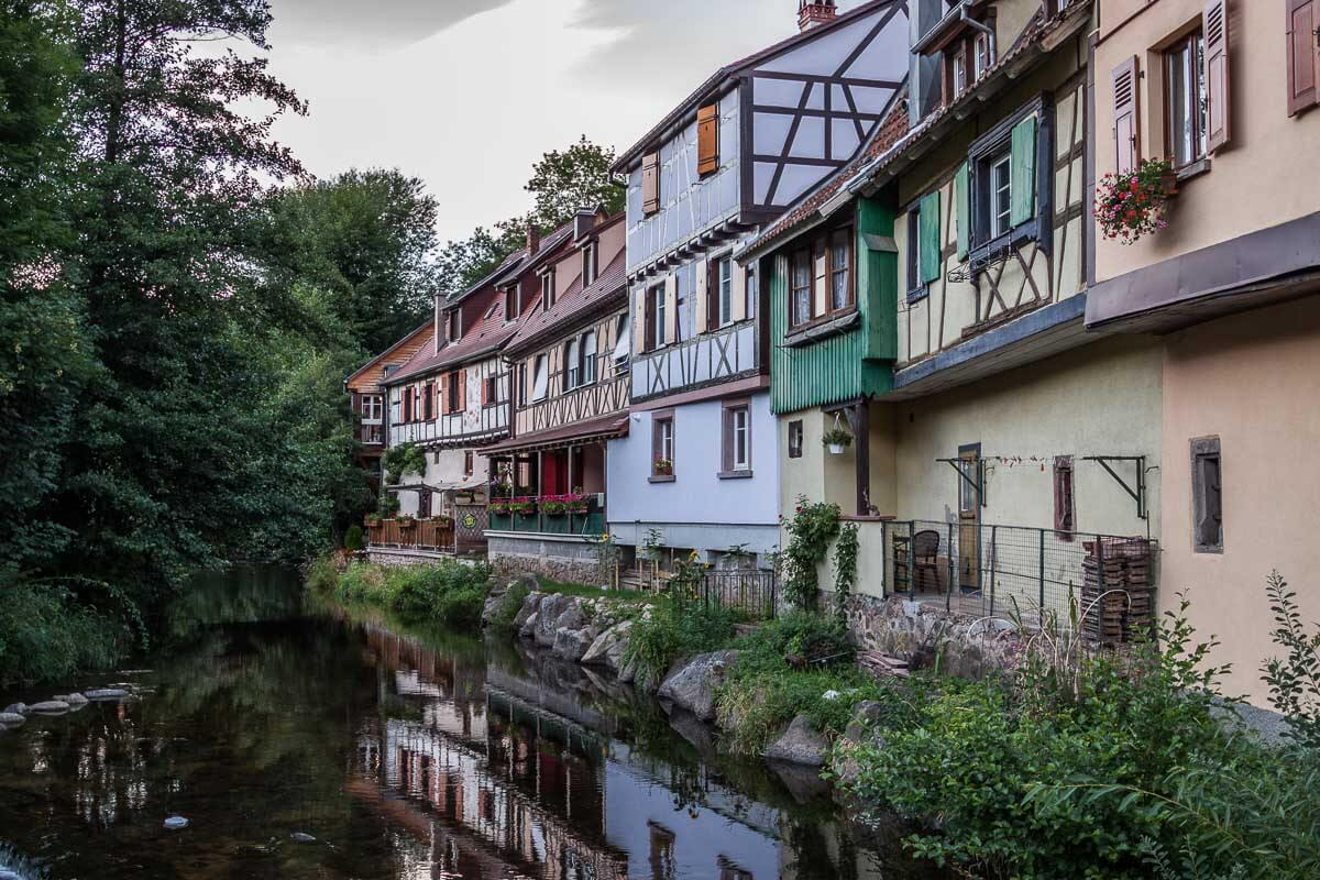 Romantische Fachwerkhäuser im Ortskern von Kaysersberg