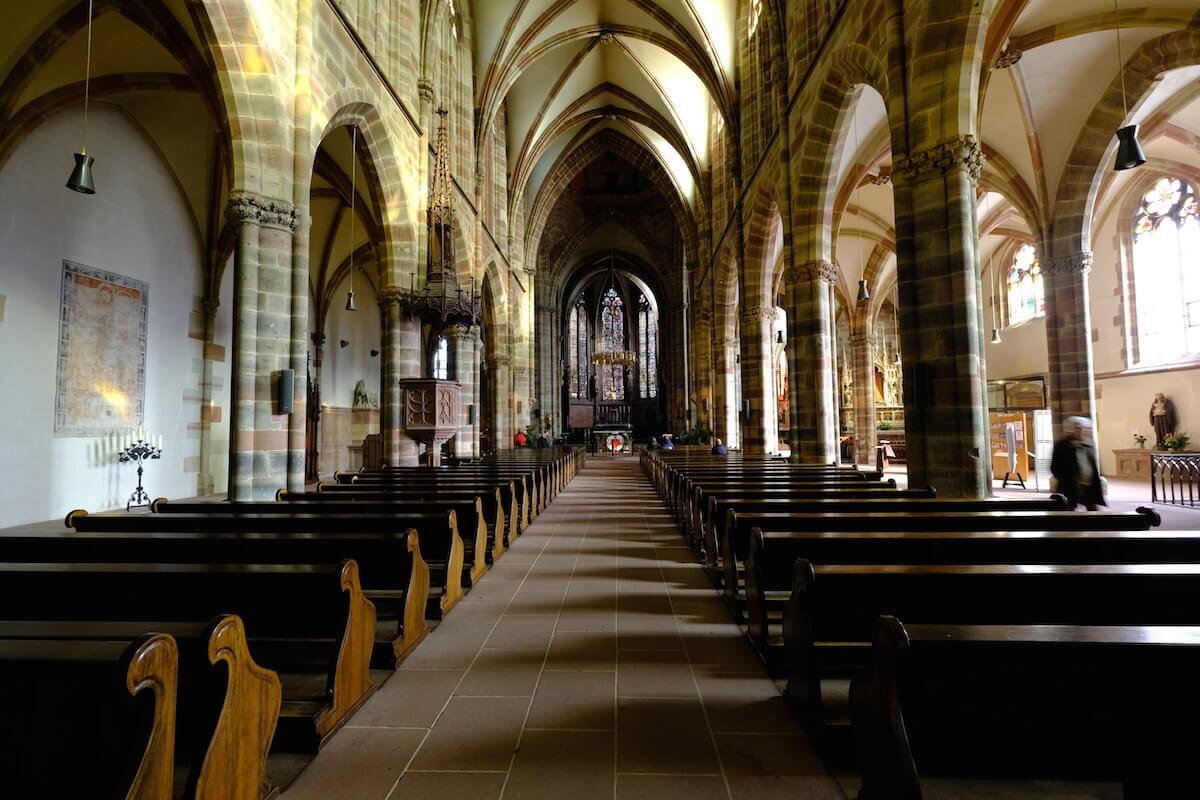 Церковь аббатства Святых Пьера и Поля Виссембург