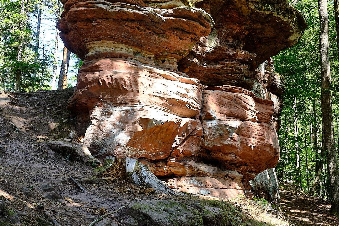 Auf dem Wanderweg zur Burg Wasigstein